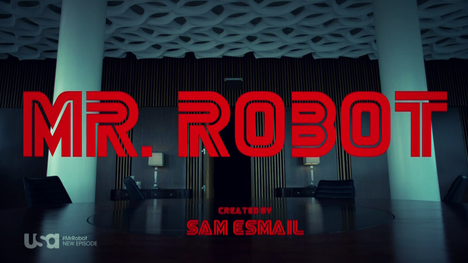 Mr. Robot intertitle. Copyright 2015 USA Network. Used under Fair Use.