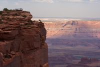 An observation deck atop Dead Horse Point