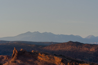 The desert and mountains are also beautiful in the morning light