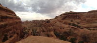 Panorama from along the Double O Arch trail.  This is about where I turned back.