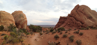 Looking toward the Skyline Arch trailhead