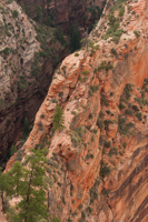 Looking back at the trail to Angels Landing. This gives a better idea of how treacherous it can be.