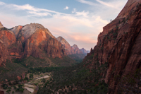 Sunset over Zion Canyon