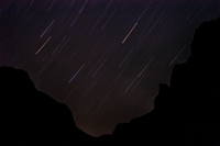 A rather disappointing photo of the stars above Zion.